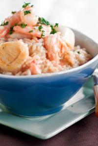 DeLallo Italian Dinner Recipe Scallop & Shrimp Risotto