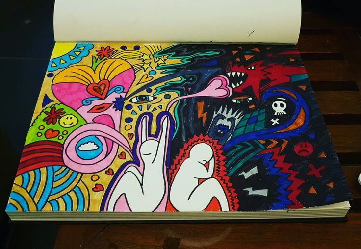 3.0 connecting souls #psychedelic #psychedelicart #badtrip #highonlife