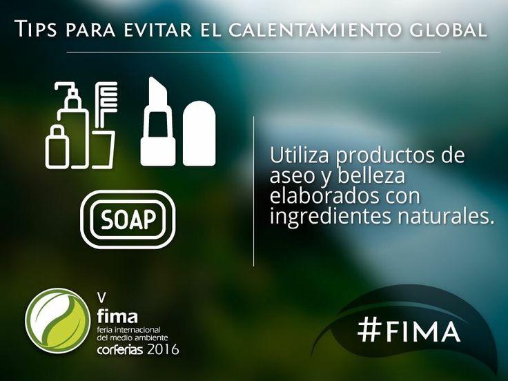 Tip FIMA 2016 para evitar el calentamiento global. #natural #naturalbeauty #maquillaje #naturalmakeup #fashion #makeupartist #elissanceparis