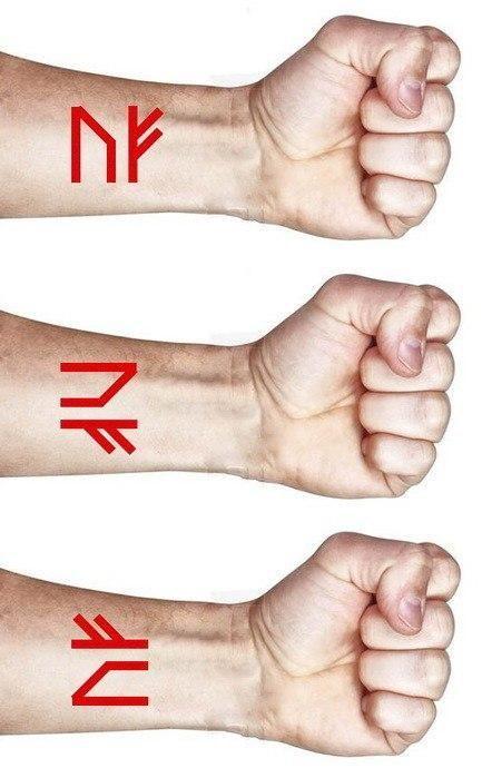 Как правильно наносить руны на руку? Как нанести став на тело.