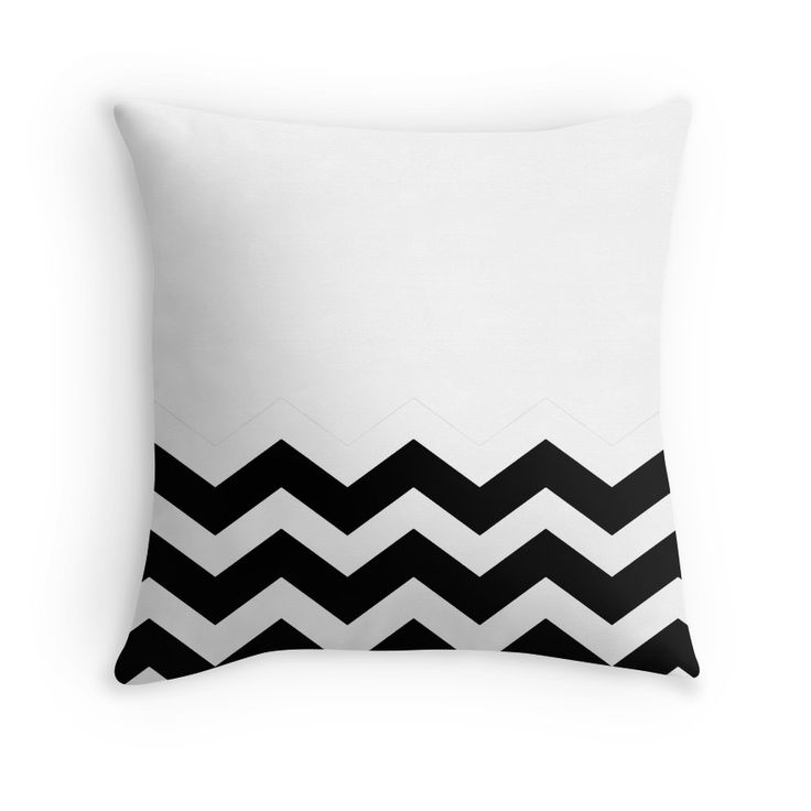 Beautiful Cushions/Chevron/ White and Black