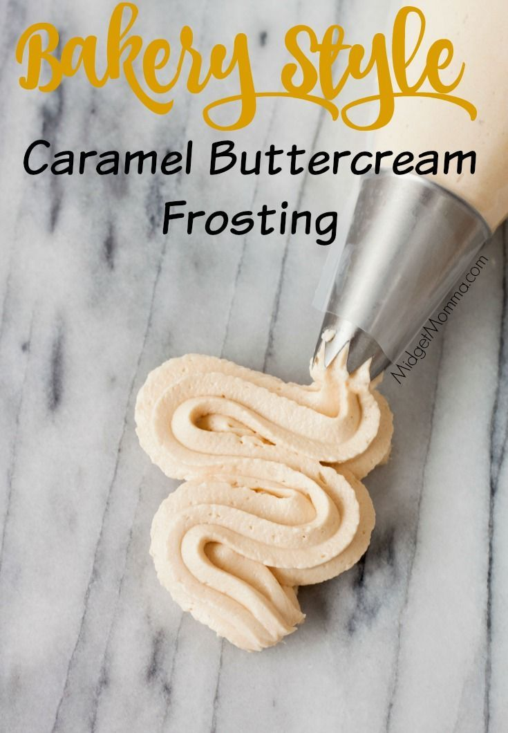 This Caramel Buttercream Frosting is just like you would get at a bakery and oh so tasty. Home made Caramel Buttercream Frosting is perfect for cakes!