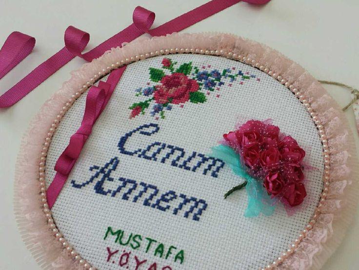 Anneler günü hediyesi isteğe özel kanaviçe pano - İç Anadolu