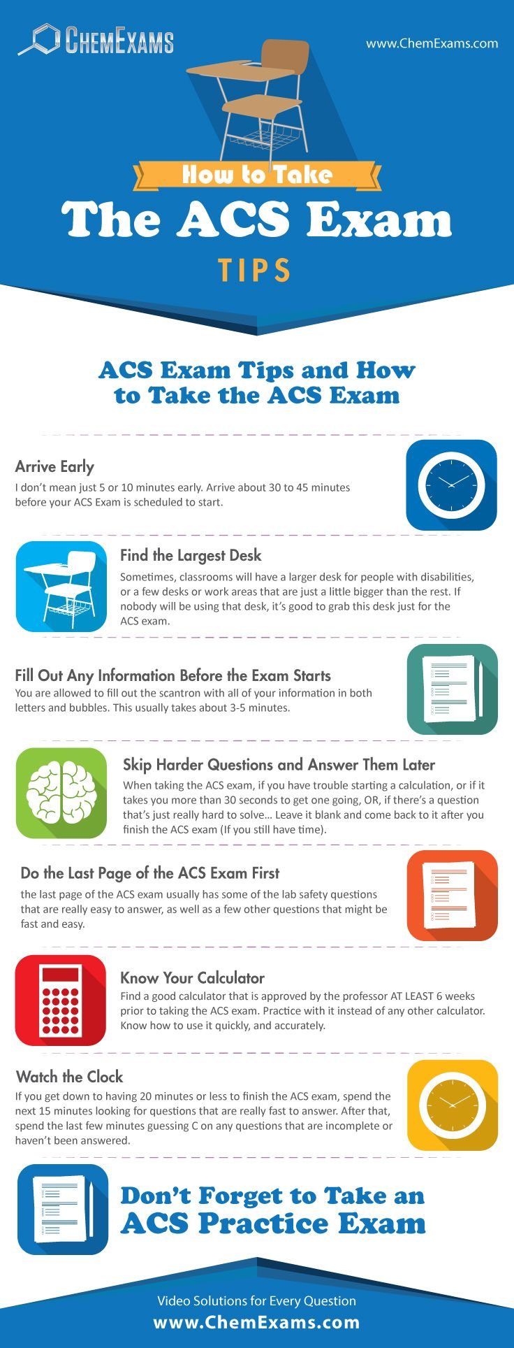 General Chemistry Finals - How to Take the ACS Exam. Study Tips for Chemistry Students.