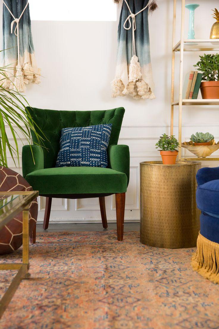 Green velvet Sinead chair for the Taurus Lounge