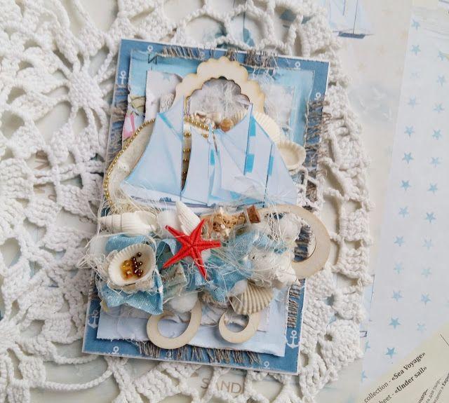 FLEUR design Blog: Морская открытка. МК от Ольги Миринской.