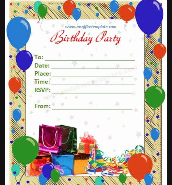 Happy Birthday Invitation Cards Elegant Happy Birthday