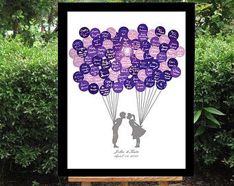 Alternatieve bruiloft-gastenboek / / alternatieve door BrilliantIdea