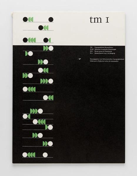 TM Typographische Monatsblätter, issue 1, 1957. Cover designer: Albert Gomm
