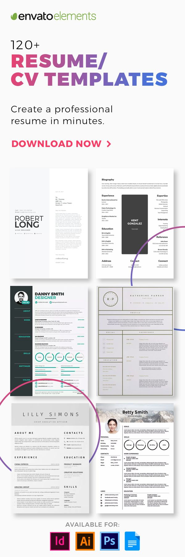 Unlimited Downloads of 2018's Best Resume Templates