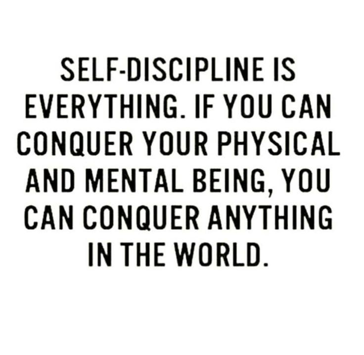 Self discipline #inspirational #conquer
