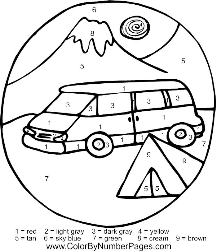 camping coloring pages free - photo#30