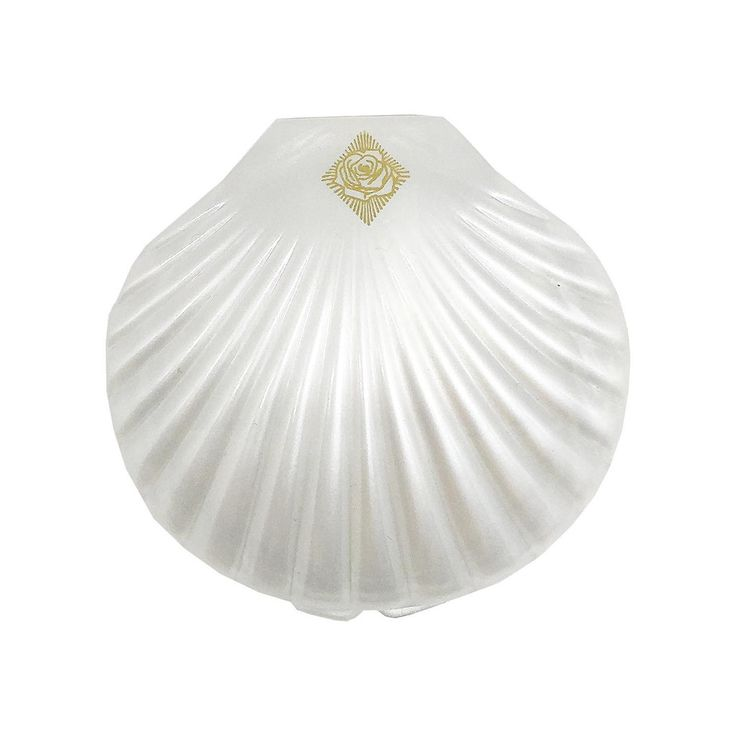 """Pearly, 3"""" wide seashell shaped compact mirrors! The perfect object to show off your vanity AND style. Pretend you're Jayne Mansfield if you like! You can. Co"""