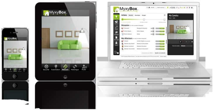 La Box Domotique MyxyBox se pilote à distance par internet à partir d'interfaces simples à utiliser. Compatible tous smartphone, ordinateurs, tablettes, elle permet de piloter son domicile du bout des doigts ! A découvrir sur myxyty.com