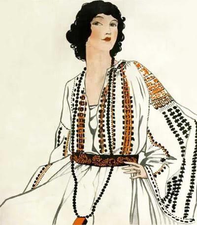 La Blouse Roumaine fashion in the '20-'30