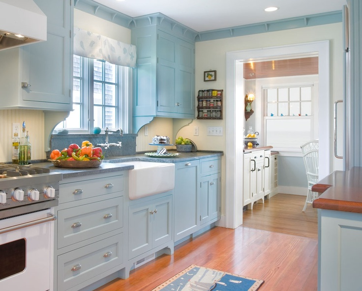 Even If Youre Using A Cool Shade Of Blue To Cover The Kitchen That Doesnt Mean Space Cant Be Bright And Vibrant Especially With Lot Natural