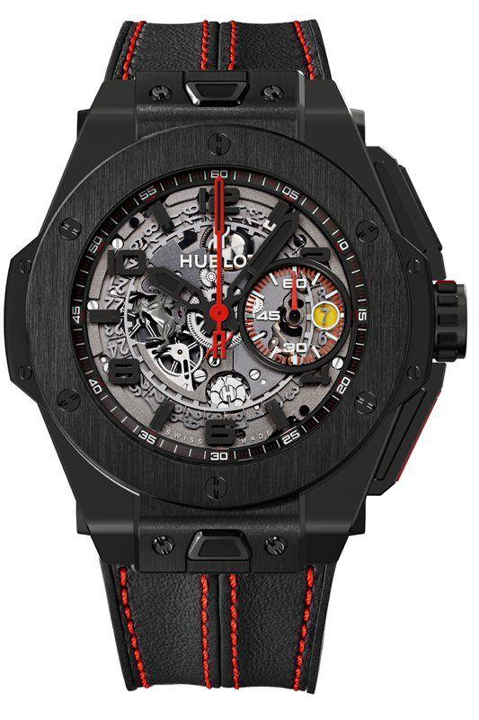 Montre Ferrari Carbon, Hublot, Carbone, cadran Squelette - 401.QX.0123.VR