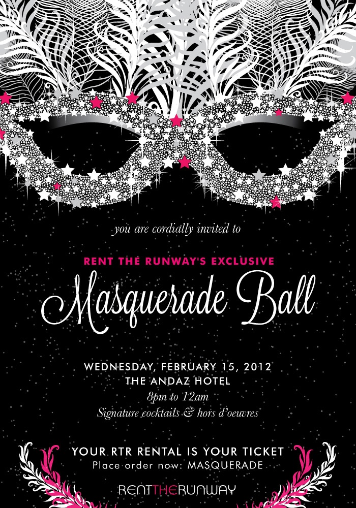 Exclusive Invite To Rent The Runway S Masquerade Ball Rtr Events