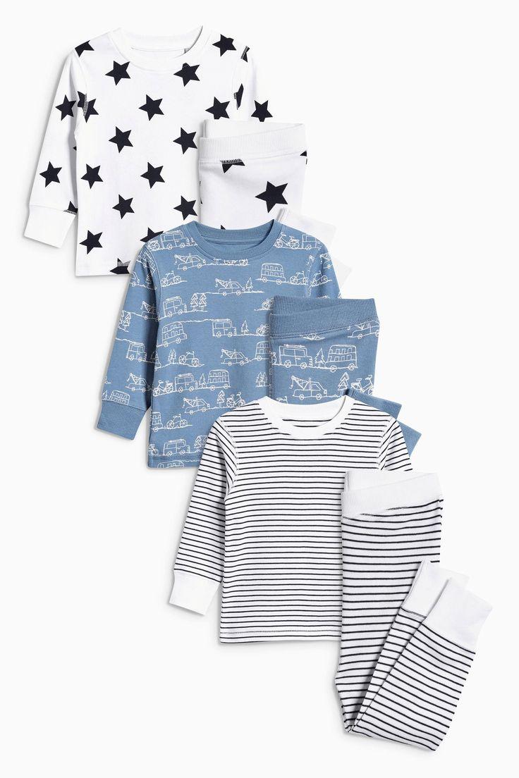 Buy Blue Star Stripe Pyjamas Three Pack (9mths-8yrs) from the Next UK online shop