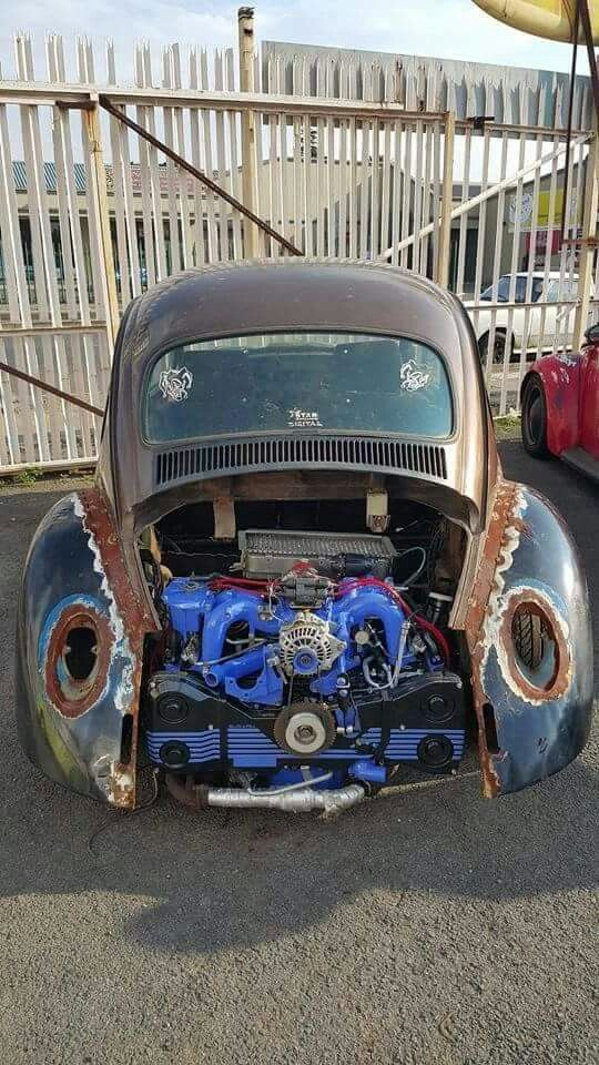 VW bug with Subaru engine