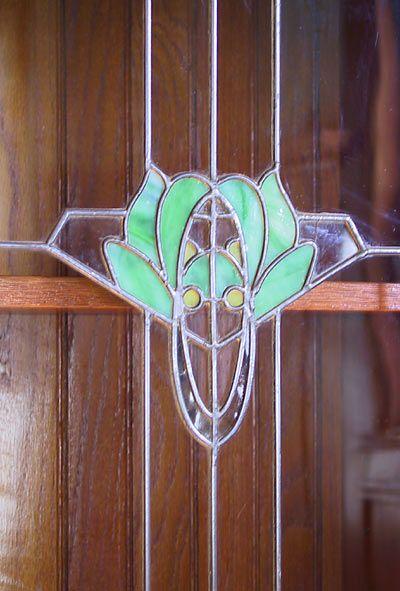 Art Nouveau/Edwardian design in a buffet door