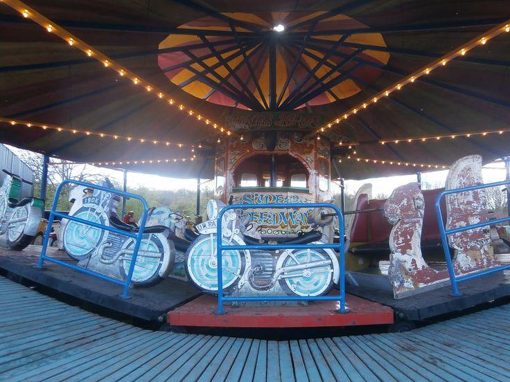 Vintage Fairground Ride Carousel - Jones Bros Super Speedway at Black Country Living Museum, Dudley