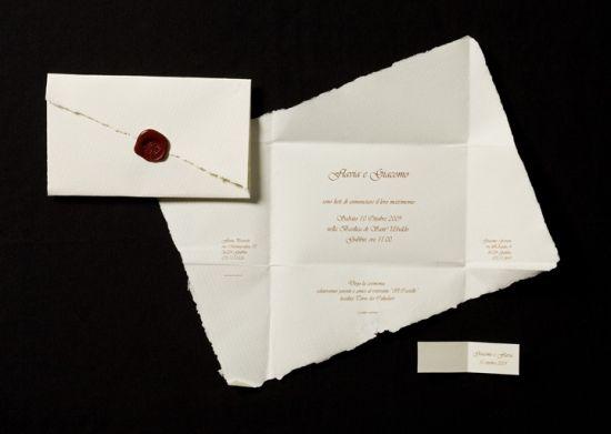 Biglietti confetti nozze primaverile, elegante, carta a mano: postalina