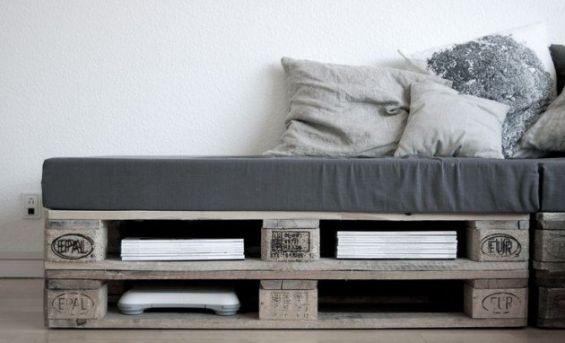 sofa aus europaletten und sitzmatte grau