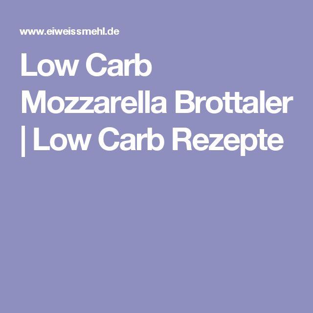 Low Carb Mozzarella Brottaler | Low Carb Rezepte