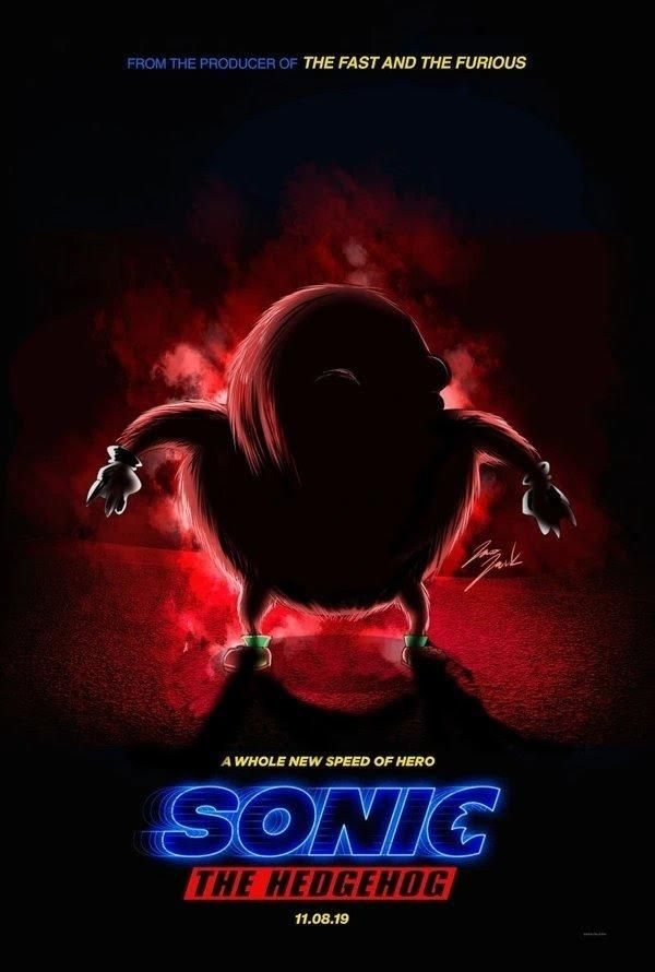 sonic the hedgehog movie poster meme