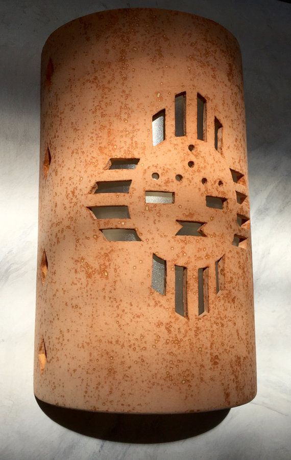 Exterior Ceramic Wall Sconces : Outside Wall Sconce, Zia Sunface, Southwestern Wall Sconce, ceramic sconce, porch lighting ...
