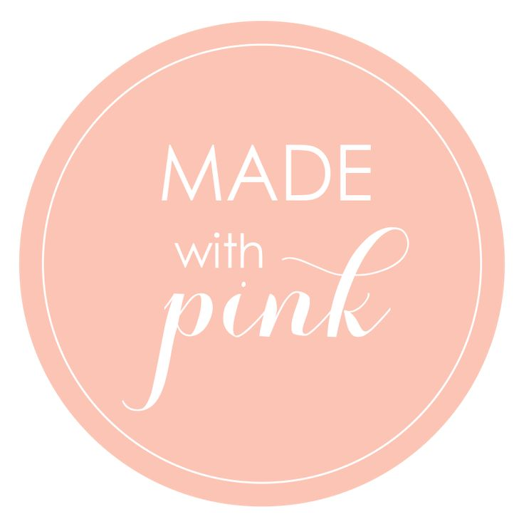 made with pink