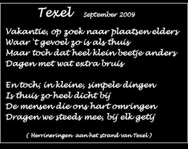 Texel gedicht - Google zoeken