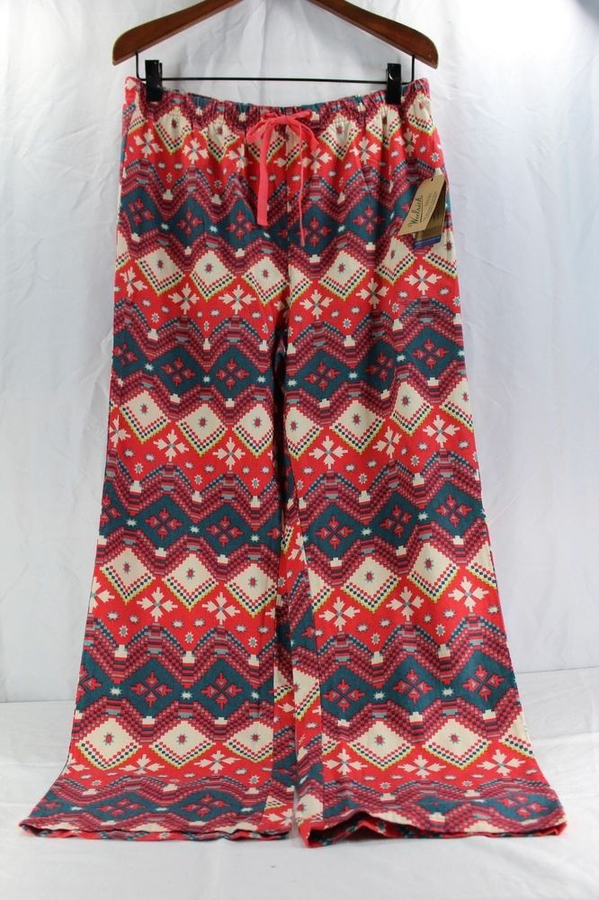 Woolrich 300 Park Flannel Print L Women s Sleepwear Multi-color Curved Fit  NWT  Woolrich  LoungePantsSleepShorts  Everyday 57ee719a0