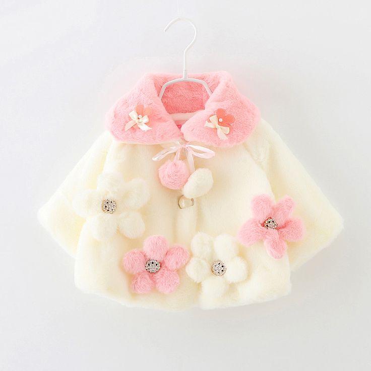 El otoño y el invierno de imitación de piel de conejo prendas de vestir exteriores del bebé niñas niño de espesor, además de terciopelo capa del cabo capa de las muchachas(China (Mainland))