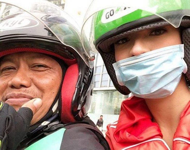 Raline Shah Unggah Foto Bareng Abang Gojek Netizen Gigit Jari Bapaknya Menang Banyak!