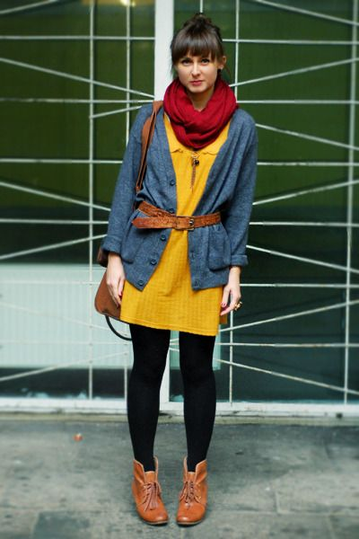 My ideal mustard palette. And actually my closet's palatte: black, brown, red, denim-ish blues and looking to include--mustard :)