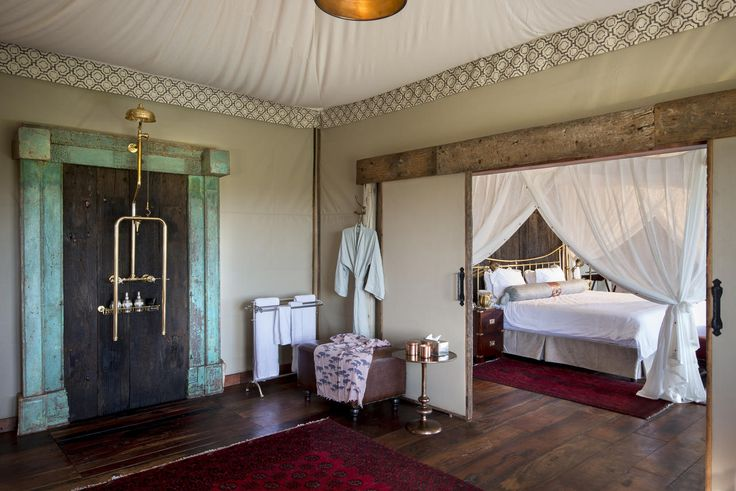 Duba Plains Camp offers 5 bespoke tents, in addition to a separate 2 bedroom suite aptly named the Duba Plains Suite, all designed by Dereck Joubert to fit into the landscape and to take advantage of the shapes and textures of shade but also to evoke the old classic African safari style of the 1920's.