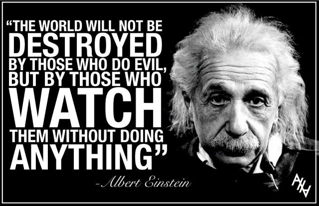 Einstein: The World Will Not Be Destroyed By Those That DoEvil...  ---- Staple News