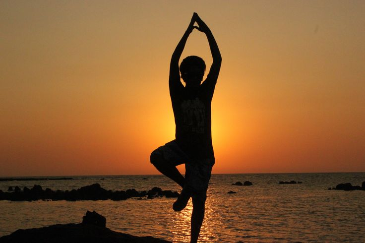 #Yoga at sunset