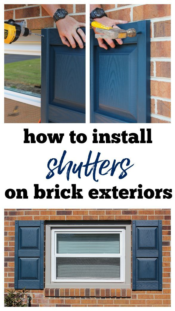 How To Hang Shutters On Brick Detailed Guide For Installing Vinyl Shutters Shutters Exterior Wood Shutters Exterior Brick Decor