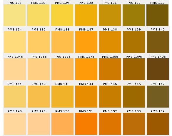 Quotes Yellow Ochre: Pantone Color Chart Ensures Accuracy