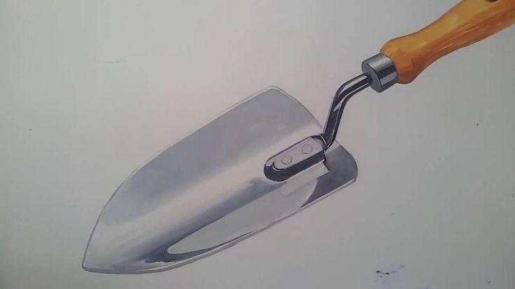 기초디자인 모종삽 채색  Trowel drawing & painting