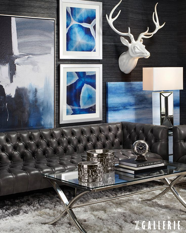 25 Best Ideas About Blue Leather Couch On Pinterest