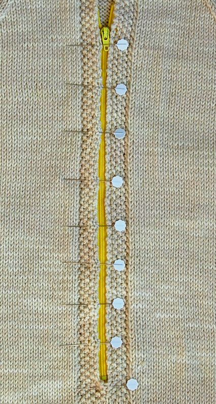 how to install a zipper in a sweater:   Zipper - Knitting Crochet Sewing Embroidery Crafts Patterns and Ideas! from Purl Bee