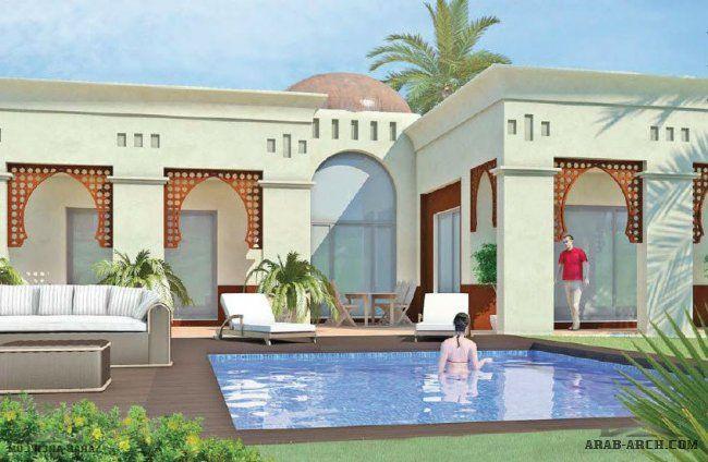 استراحه تصميم مغربى طابق واحد House Styles Mansions Outdoor Decor