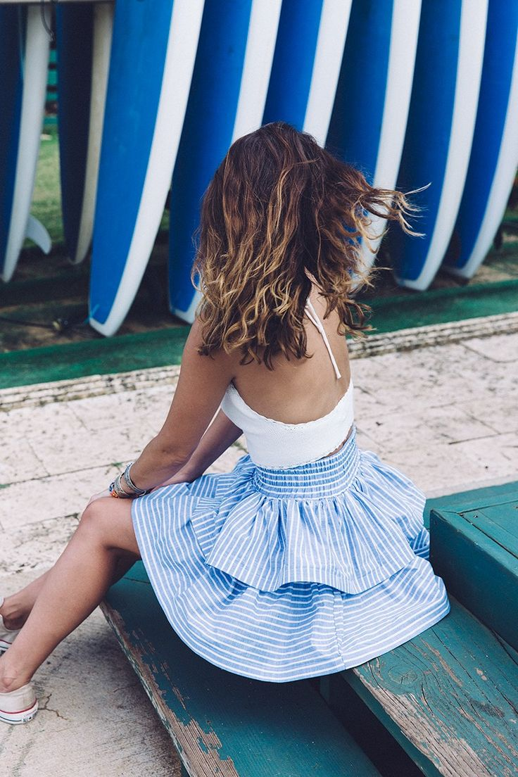 justthedesign:   Styling A Striped Skirt: Sara... Fashion Tumblr | Street Wear, & Outfits
