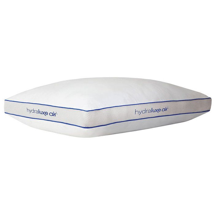 "HydraLuxe Air Cooling Pillow - Everyone knows that a cool pillow is the best…and everyone also knows that spending half the night flipping the pillow over in search of the elusive ""cool spot"" is the worst. But with the HydraLuxe Air™ Cooling Pillow, you'll be able to spend less time pillow flipping and more time sleeping!"