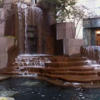Awesome fountain in downtown Charlotte, NC