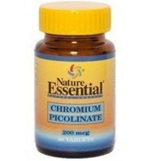 50 tabletas de Picolinato de Cromo 200 mg. Peso, grasas, adelgazante. Chromium Picolinate.  Ayuda a controlar el apetito. Mejora el metabolismo de carbohidratos, grasas y proteínas, colaborando con la insulina.